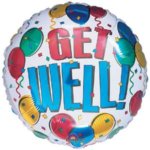 Get Well Mylar (Single) Smiley, Happy, Mylar, Balloon, Delivery, Philadelphia, Get Well