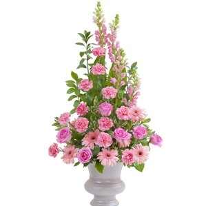 Peaceful Pink Large Urn - As Shown (Deluxe)