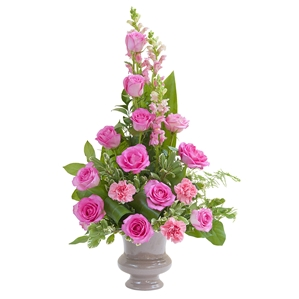 Peaceful Pink Small Urn - As Shown (Deluxe)