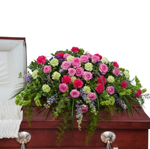 Forever Cherished Casket Spray - As Shown (Deluxe)