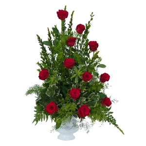 Royal Dozen Rose Urn - Standard